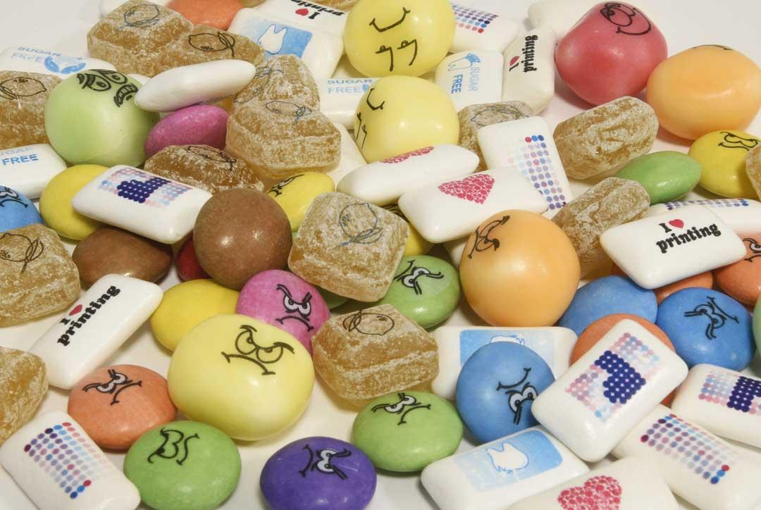 Snoepgoed tampondruk